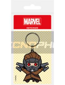 Llavero de goma Marvel Los Guardianes de la Galaxia - Kawaii Star Lord