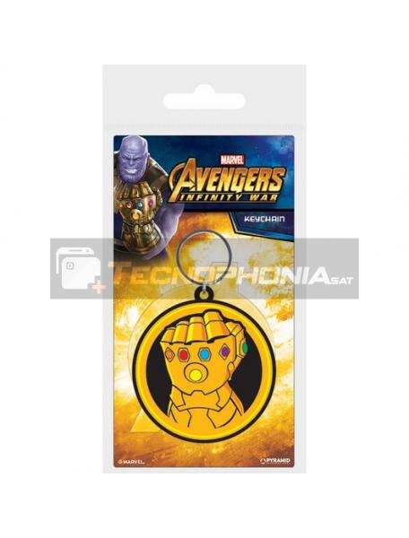 Llavero de goma Marvel Thanos Infinity War Gauntlet