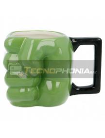 Taza cerámica 3D 450ML Hulk puño 8412497909896