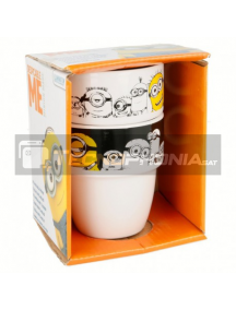 Set cerámico de dos tazas en caja regalo Minions 8412497014798