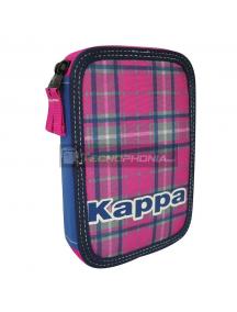 Estuche Kappa Tartan doble cremallera