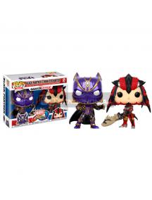 Set de figuras Funko POP Black Panther vs Monster Hunter