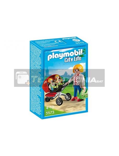 Playmobil - Mamá con carrito de gemelos