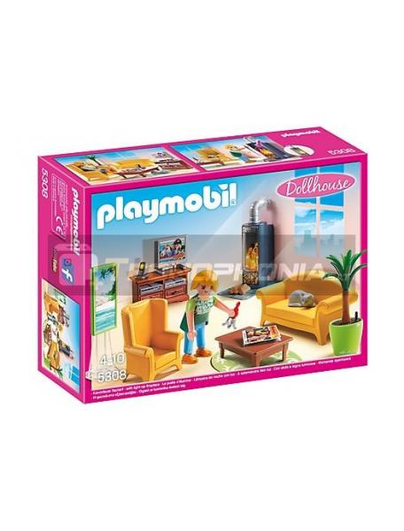 Playmobil - Sala de estar con fuego