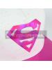 Gorra Superman DC Comics premium blanca - rosa