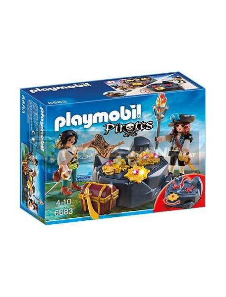 Playmobil - Escondite del tesoro pirata 6683