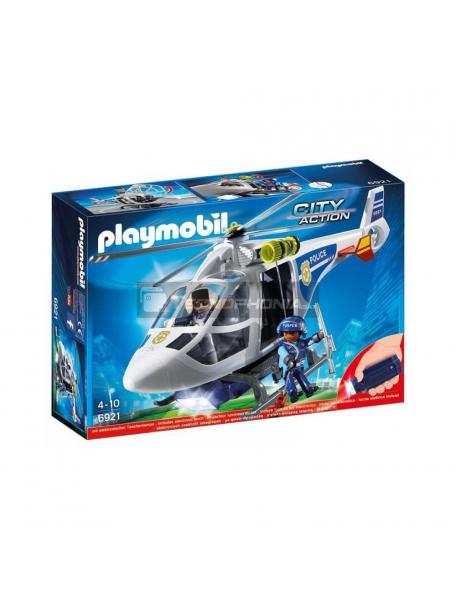Playmobil - 6921 Helicóptero de policía con luz
