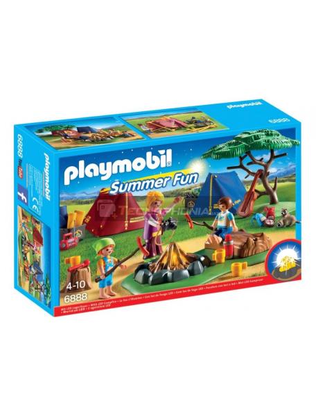 Playmobil - 6888 Campamento con fogata