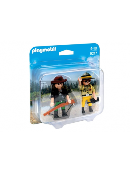 Playmobil - 9217 Ranger y cazador furtivo