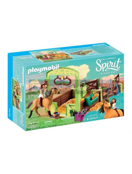 Playmobil - 9478 Establo Fortu y Spirit
