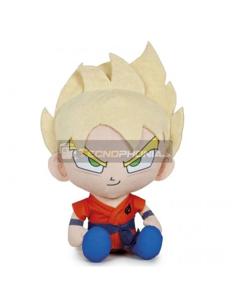 Peluche Goku Dragon Ball Super 24cm pelo amarillo