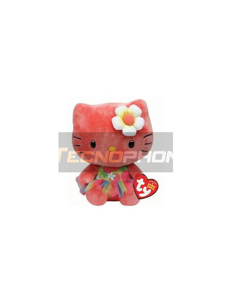 Peluche TY Beanie Babies Hello Kitty rosa 15cm