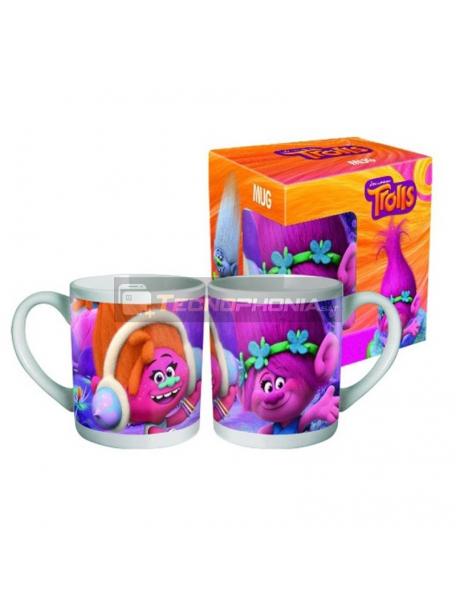 Taza cerámica 240ml Trolls Poppy DJ Suki 6950687219551