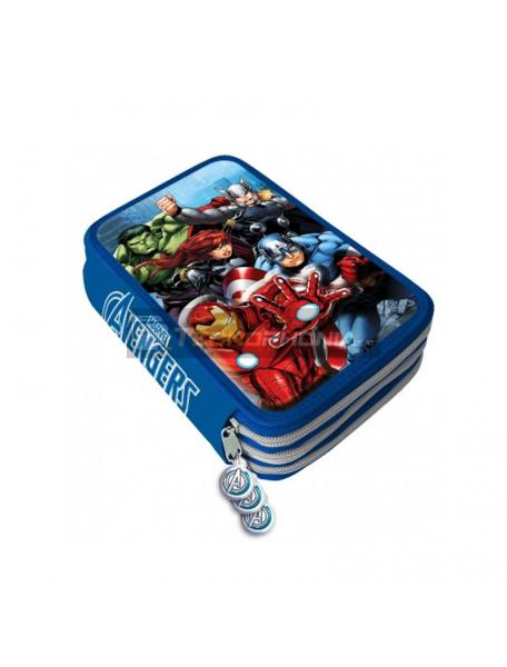 Estuche Vengadores Avengers Marvel triple cremallera