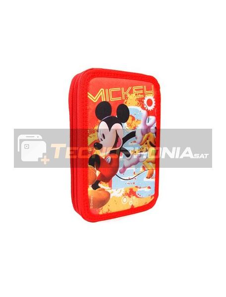 Estuche doble cremallera Mickey Mouse