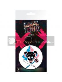Llavero de goma Escuadrón Suicida Harley Skull