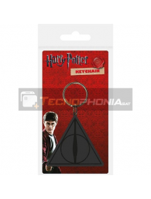 Llavero de goma Harry Potter Deathly Hallows logo