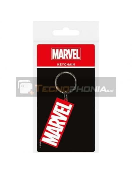 Llavero de goma Marvel logo