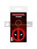 Llavero de goma Deadpool logo