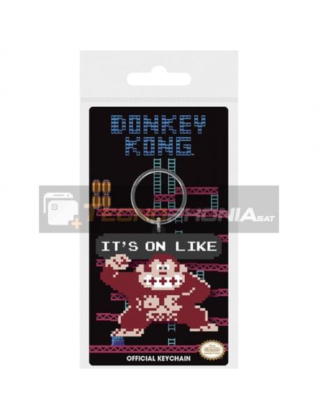 Llavero de goma Nintendo Donkey Kong it's on like