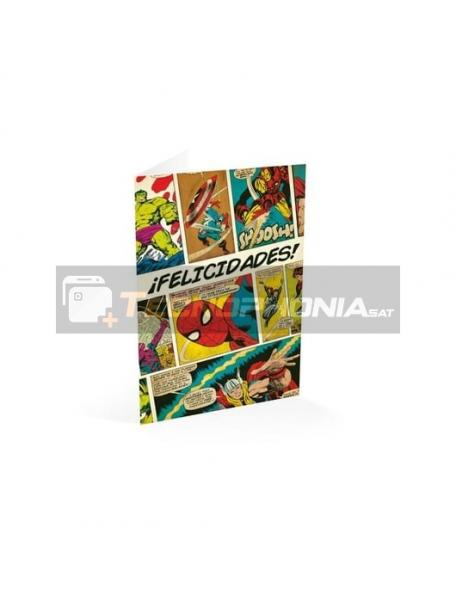 Tarjeta de felicitación Marvel Comics - ¡Felicidades!