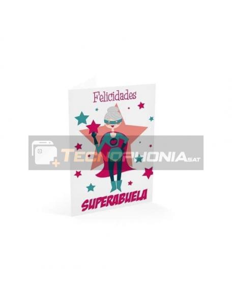 Tarjeta de felicitación Felicidades Superabuela