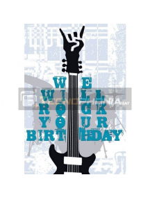 Tarjeta de felicitación We will rock your birth
