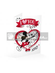 Tarjeta de felicitación Mickey - I love you