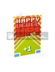 Tarjeta de felicitación Happy Level Up