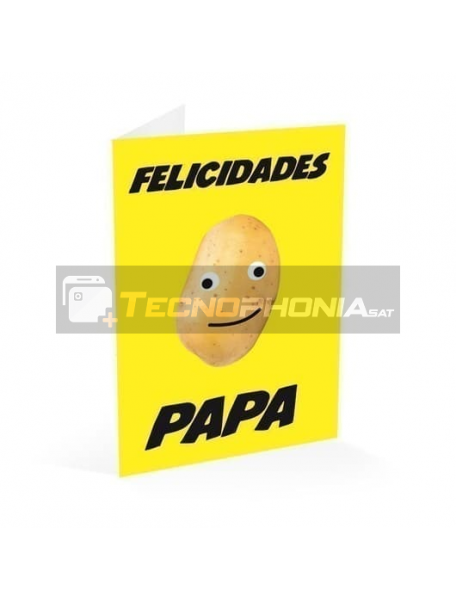 Tarjeta de felicitación Felicidades Papá - patata