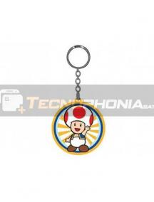 Llavero de goma Nintendo - Toad