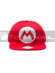 Gorra Nintendo - logo Mario roja visera plana