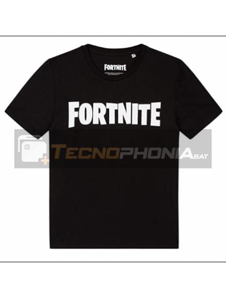 Camiseta infantil Fortnite T.16 Logo negra