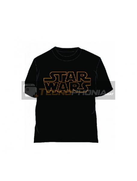 Camiseta Star Wars logo amarillo talla XL