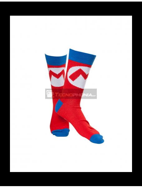 Calcetines Nintendo - Mario Logo talla 43-46