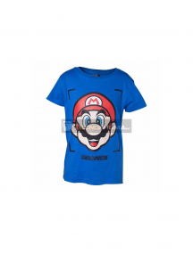Camiseta Super Mario niño talla 134-140 azul