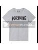 Camiseta Fortnite Talla L Logo gris