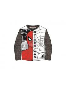 Camiseta manga larga niño Spider-man cara - tela de araña T.104 4 años