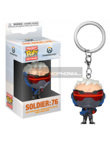 Llavero Pocket POP! Overwatch Soldier 76