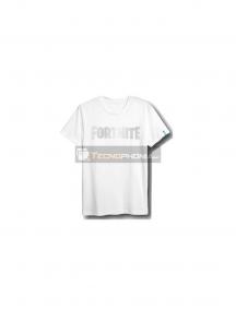 Camiseta Fortnite logo blanca talla S