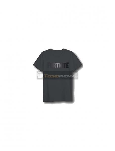 Camiseta Fortnite logo degradado negra Talla S