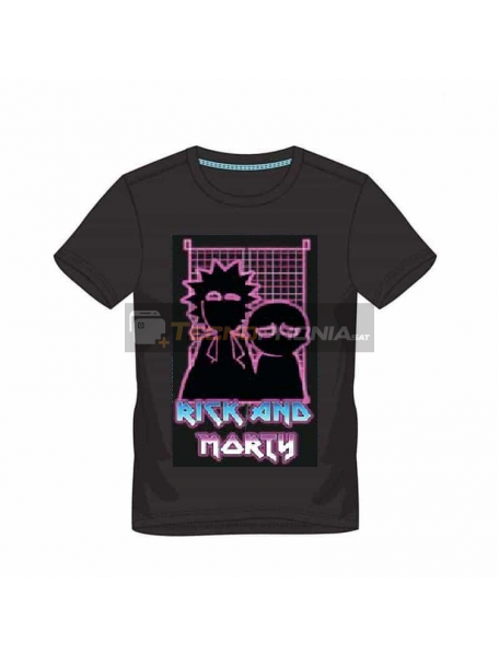 Camiseta manga corta Rick and Morty - 80's Pinball Talla L
