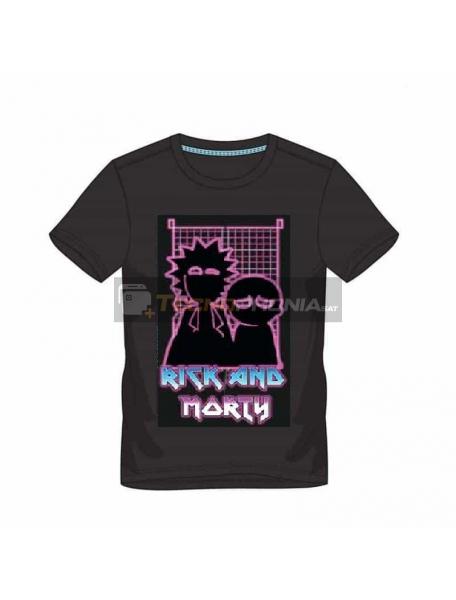 Camiseta manga corta Rick and Morty - 80's Pinball Talla S