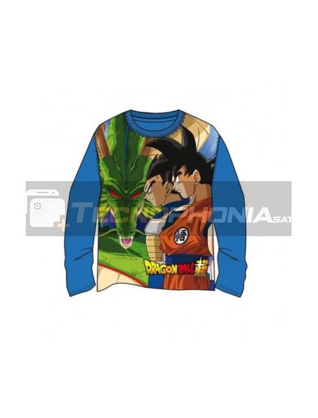Camiseta niño manga larga DragonBall Z azul T14