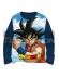Camiseta niño manga larga DragonBall Z azul marino T12