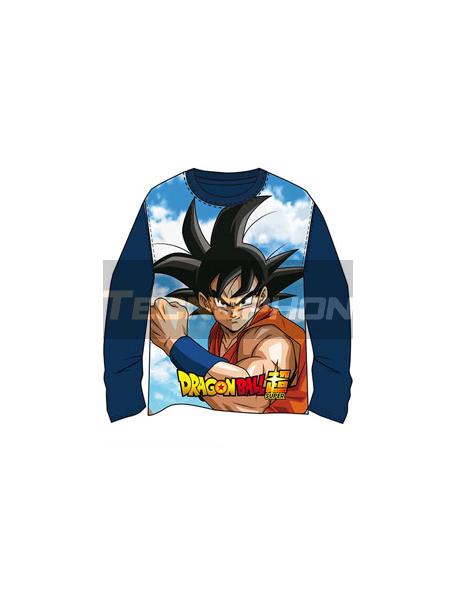 Camiseta niño manga larga DragonBall Z azul marino T14