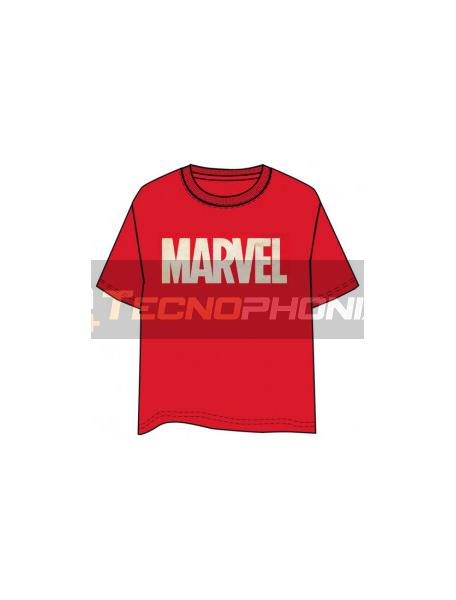 Camiseta manga corta Marvel logo Talla L