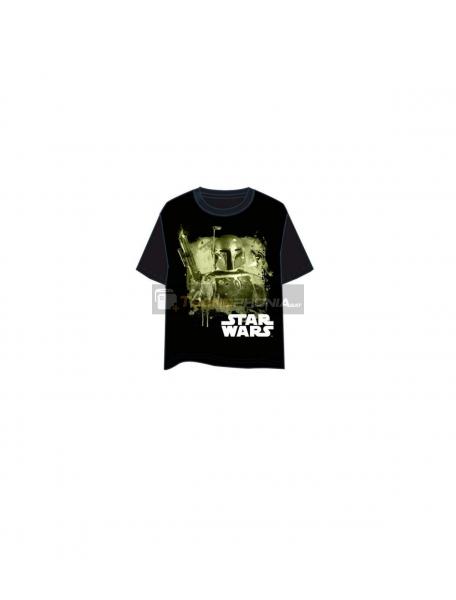 Camiseta manga corta Star Wars Boba Fett Talla M