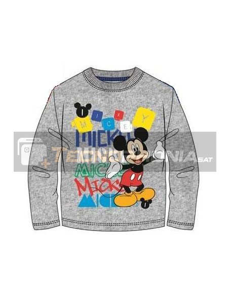 Camiseta manga larga niño Mickey gris Talla 5