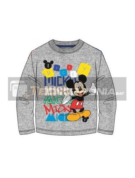 Camiseta manga larga niño Mickey gris Talla 6